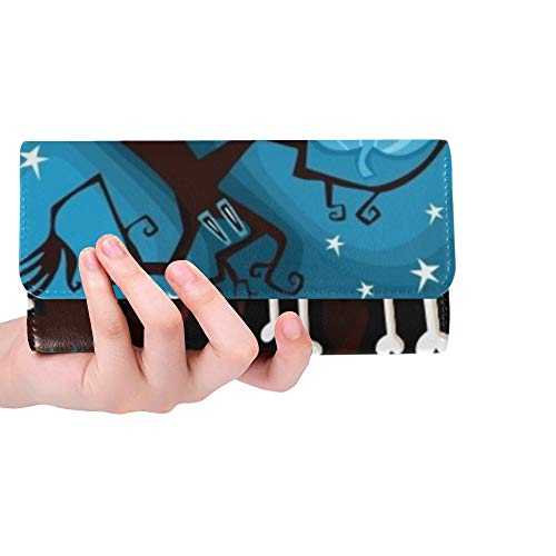 Unique Custom Halloween Card Women Trifold Wallet Long Purse Credit Card Holder Case Handbag]()