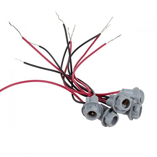 Partsam 5xT10 Replacement Plug Sockets Extened Wiring Harness pigtail for Cab Roof Running Marker light (Cab Lights With Wiring compare prices)