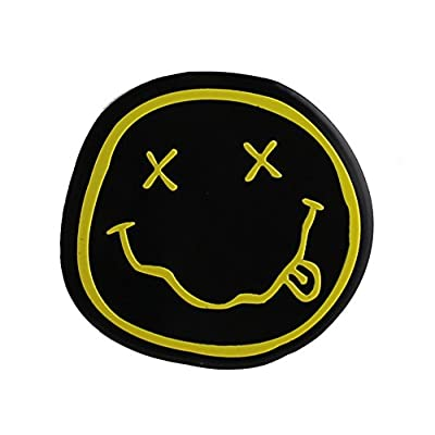 C&D Visionary Nirvana Smiley Metal Sticker, Gold, 5cm: Toys & Games