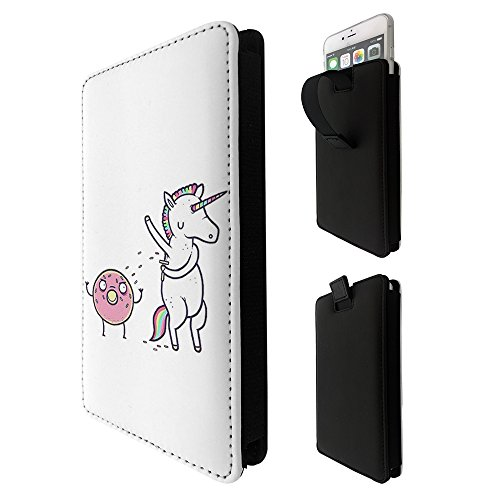 001714 – Comic Unicorn Onto Donut Sprinkles Treat LG k3 k4 k8 k19,Q6 G6 V20 V30,VODAFONE E8 N8 E8 turbo 7 prime 7,google pixel 2 Quality Tpu Leather Pull Tab Pouch Case Sleeve Cover