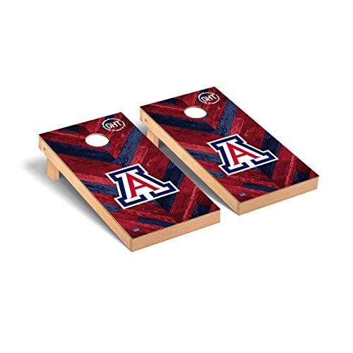 Victory Tailgate Arizona Wildcats Cornhole Game Set OHT Herringbone Version (Arizona Wildcats Framed)