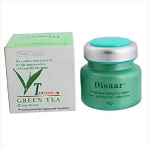 Disaar Green Tea Whitening Moist Skin Waterproof Foundation