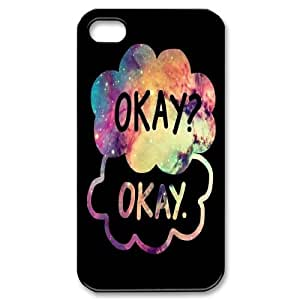 2014 New & Fashion Star DIY The Fault in Our Stars Okay?okay. phone Case Cover for Apple iPhone 4 4S RCX048903