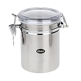 kitchen airtight storage containers stainless steel canister airtight coffee tea sugar home 4976