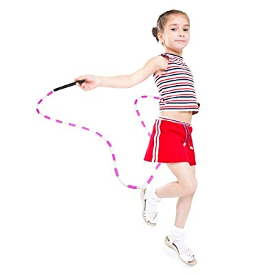 KRS 7 Foot Children's Jump Rope with Multi Color Plastic Segments (RAINBOW): Toys & Games