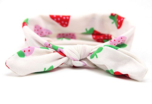 - LittleB Cartoon pattern baby-girls headbands rabbit ears head wrap for Photograph. (Strawberry)
