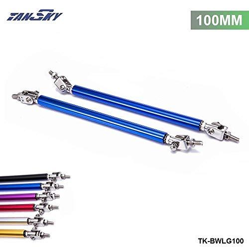 (Universal 2Pcs/SET 100mm Adjustable Front/Rear Wind Splitter Frame Bumper Protector Rod Support TK-BWLG100)