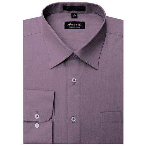 Dusty Violet - Amanti Dusty Violet Colored Men's Dress Shirt Long Sleeve 15.5-32/33