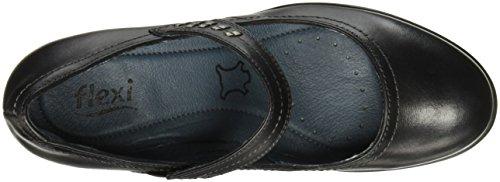Tacón 15410 Zapatos para Mujer Flexi Constance Negro de q4wFIZ