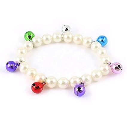 eDealMax Campana Detalle de imitación de perlas de imitación Collar del Collar de la decoración del