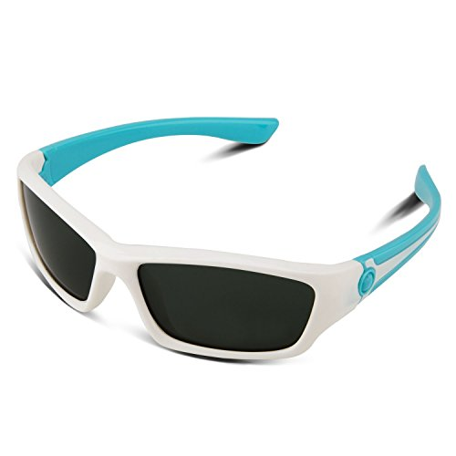 RIVBOS RBK025 Rubber Flexible Kids Polarized Sunglasses Glasses Age 3-10 - Aviators Tumblr