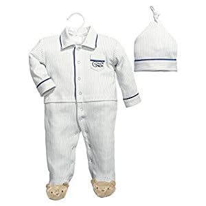 Baby Dumpling Hush Little Baby Boy's Sleep and Play Gift Set, Blue/White, 6-9 Months by Baby Dumpling
