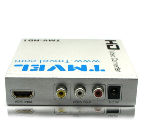 Tmvel TMV-HD1 HDMI & A/V Multi-System PAL/NTSC Digital Audio Video Converter - PAL HDMI / Composite to NTSC HDMI 50/60 Hz - Up to 1080p/720p Upscaling - Outstanding Quality & Performance - Dual Voltage 100-240 Volt Worldwide Use - Free 10 Feet HDMI Cable  by Tmvel