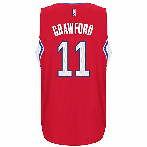 adidas Jamal Crawford Los Angeles Clippers NBA Red Official Climacool Away Road Swingman Jersey for Men (2XL)