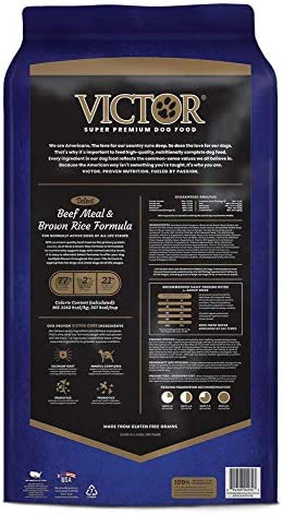 Victor Select - Beef Meal & Brown Rice Formula, Dry Dog Food