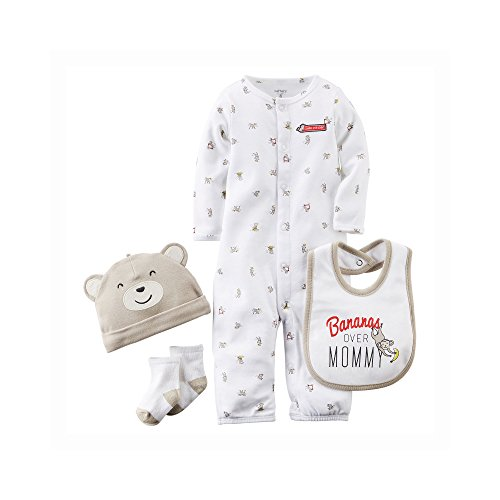 Carter's Baby Boys' 4 Piece Layette Set (Baby) - Monkey - 6M