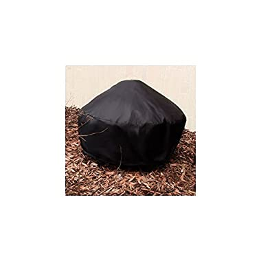 Sunnydaze Durable Black Round Fire Pit Cover, 30 Inch Diameter