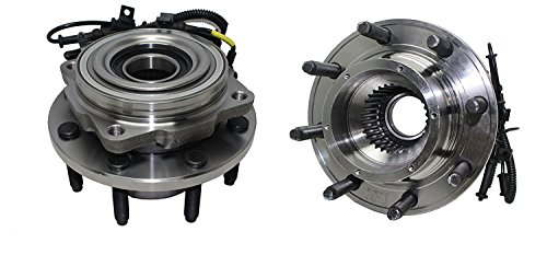 Detroit Axle - Brand New (Both) Front Wheel Hub and Bearing Assembly [SINGLE REAR WHEEL] fits 2005-2010 Ford F-250 4WD - [2005-2010 Ford F-350/450/550 SINGLE REAR WHEEL 4WD 8 Lug W/ABS