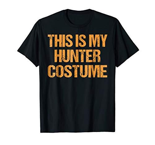 Hunter Halloween Shirt Easy Lazy Last Minute Costume -