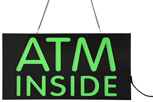Displays2go LED iluminado cartel con Atm Dentro de mensaje, verde (jledatmin)