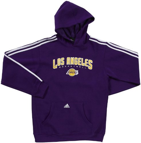 Adidas Youth NBA Los Angeles Lakers 3 Stripe Hooded Fleece, 7/8 - Small by adidas