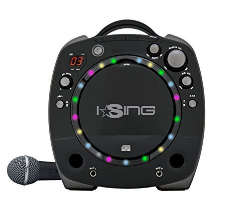 Vivitar iSING Party Karaoke CDG Machine with CD player, Microphone & Light effects - Black