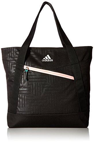 adidas Squad III Tote Bag, One Size, Black/Haze Coral/Reflective