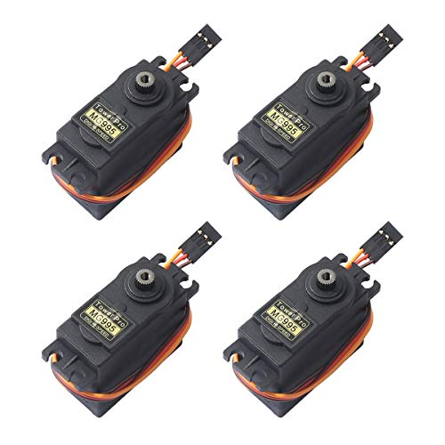 (4PCS MG995 360° High Speed Torque Metal Gear Servo Motor Set Kit fit Boat/RC Helicopter/Car/Airplane/Smart Robot/JR/Futaba)