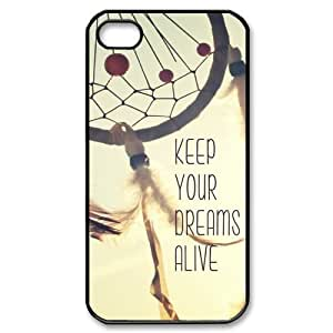 chen-shop design Custom Your Own Personalised Hard Keep Your Dreams Alive Dream Catcher iPhone 4/4S Cover , Snap On Keep Your Dreams Alive Dream Catcher iPhone 4/4S Case high XXXX