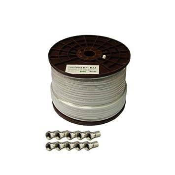 Venton - Cable coaxial (100 m, 135 dB, RG6F-KU, 5