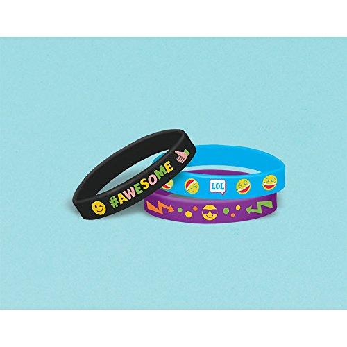 Amscan 398616 Lol Rubber Bracelet Favors 7//16 x 3 1//2 Multicolor