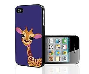 Baby Giraffe on Purple Background Hard Snap on Phone Case (iPhone 5/5s)