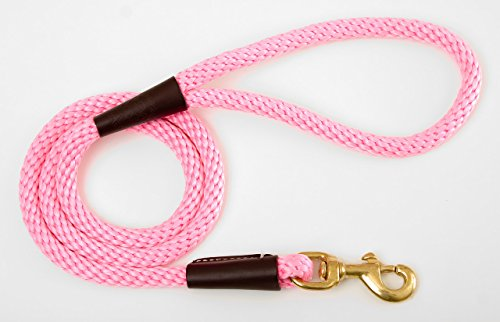 (Mendota Dog Products Snap Leash, 1/2-Inch by 6-Feet, Hot Pink)