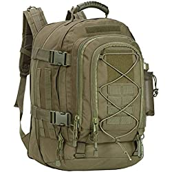PANS Military Expandable Travel Backpack Tactical Waterproof Outdoor 3-Day Bag,Large,Molle System for Travel,Hiking,Camping,Trekking,Outdoor Sports,Work(Green)