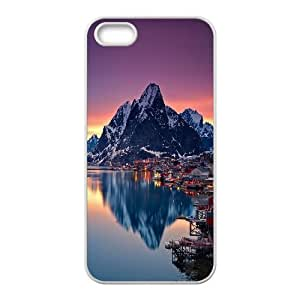Jumphigh Mountain Cliffs IPhone 5,5S Cases NORWAY's Mountain Cute for Girls, Case for Iphone 5s for Girls Cute for Girls [White]
