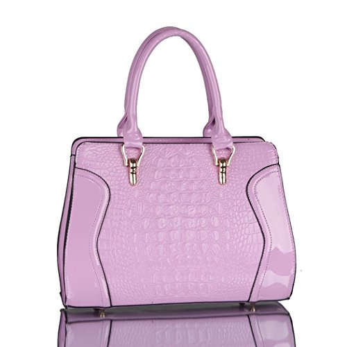 Vintage Paris Lo'la Handbag with Sling (Purple) - 5