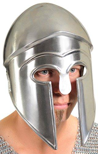 Ancient Greek Military Costume (UHC Men's Ancient Greek Corinthian Military Armor Helmet Halloween Accessory)