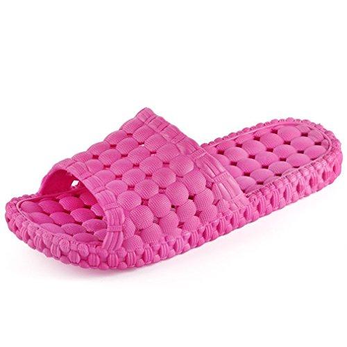 Maybest Unisex Bagno Doccia Pantofola Antiscivolo Bolla Spa Massaggio Scarpe Sandalo Di Famiglia Rosa Per Le Donne