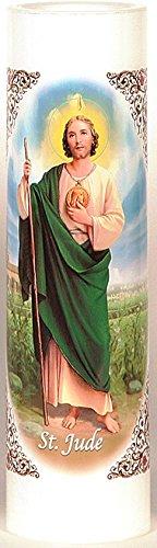 St  Jude | San Judas Tadeo | LED Flameless Prayer Candle with Automatic  Timer | English & Spanish | 7-Day Novena Candlelight Vigils | Catholic