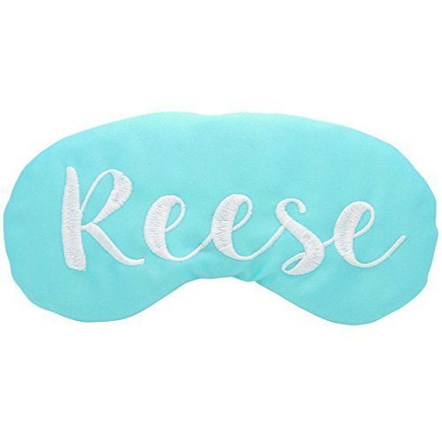 Custom Colors Satin Sleep Mask Personalized Monogram Embroidered Travel Eye Mask Slumber Party Favors