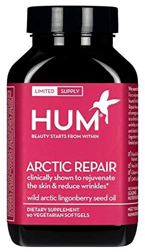 Repair Omega 3 (HUM Arctic Repair - Plant Based Omega 3, 6 & 9 with Lingonberry Seed Oil (90 Vegetarian Softgels))
