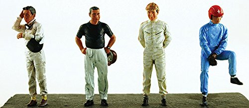 Drivers Set of 4 Figurines for 1/43 Diecast Model Cars by Lemans Miniatures 43001M