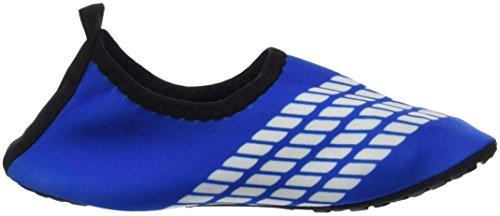 Panegy - Zapatos Agua de Natación Infantil para Niños Niñas Slip on Suave Zapatillas Deportivos Acuático para Playa Piscina Zapatos de Piel Aqua Shoes - Rosa Azul Amarillo - Talla EU 24-34 Azul