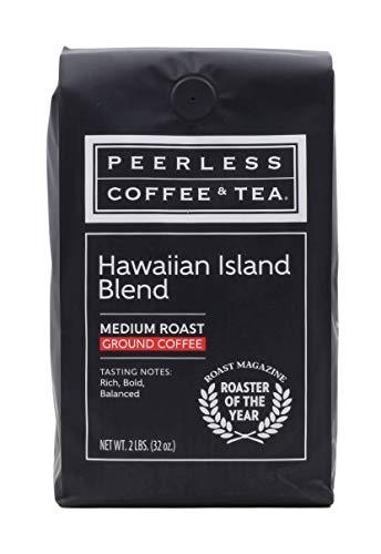 Peerless Coffee & Tea Ground Coffee, Hawaiian Island Blend, Medium Roast, 2 Pound