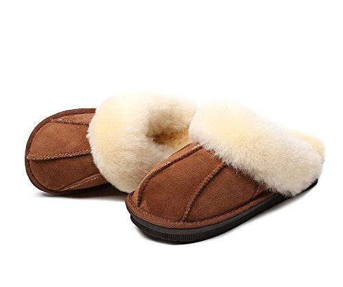 Australian Extra Thick Sheepskin WARMIE Slippers Chestnut amp; Super Sheepskin Fluffy Durable Premium z6dABwn