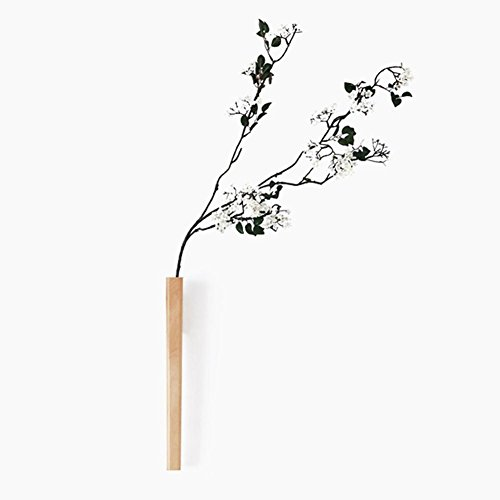 KSUNGB Flower Stand Wall Hanging Creative European Flower Arrangement Device Solid Wood Indoor Retro Living Room/ Bedroom/ Hotel / Bar Display Stand Suspension Beech/ Black Walnut 41cm , Brown by KSUNGB