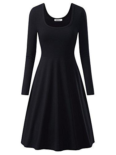 long black flared dress - 1