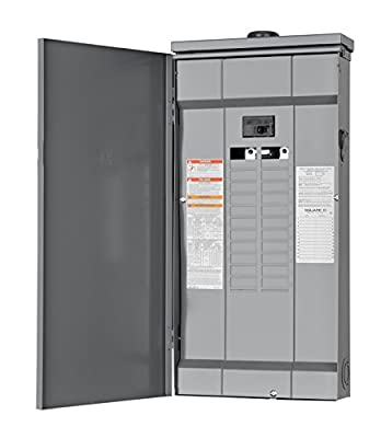 Square D by Schneider Electric HOM2448M125PRB Homeline 125 Amp 24-Space 48-Circuit Outdoor Main Breaker Load Center (Plug-on Neutral Ready), ,