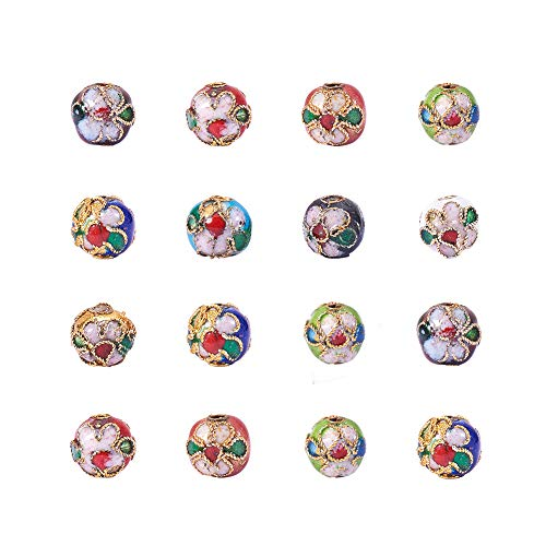 - PH PandaHall 120 Pieces 8mm Handmade Round Enamel Cloisonne Beads DIY Jewelry Making Craft Loose Beads, Mixed Color