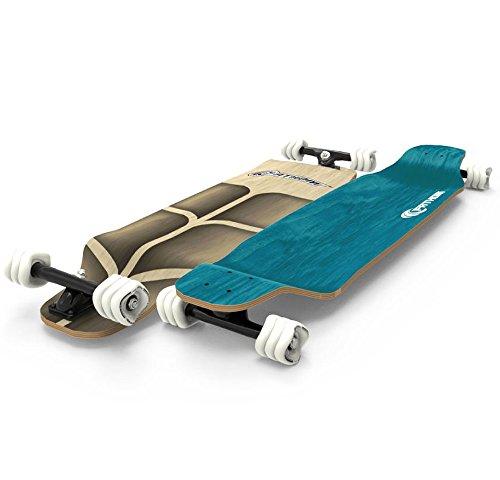 Shark Wheel Fathom Long Drop Roam Longboard Complete, Teal